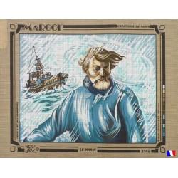 Canevas à broder 50 x 65 cm marque MARGOT création de Paris thème le marin fabrication française