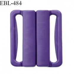 Boucle clip 20 mm attache réglette pvc spécial maillot de bain couleur violet foncé haut de gamme prix à l'unité