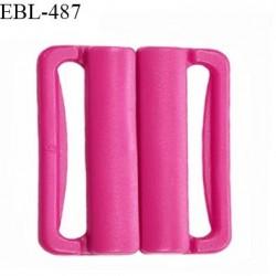 Boucle clip 20 mm attache réglette pvc spécial maillot de bain couleur rose fuschia haut de gamme prix à l'unité
