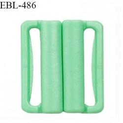 Boucle clip 20 mm attache réglette pvc spécial maillot de bain couleur vert haut de gamme prix à l'unité
