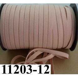 élastique plat largeur 12 mm couleur pèche core vendu au mètre