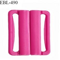 Boucle clip 25 mm attache réglette pvc spécial maillot de bain couleur rose fuschia prix à l'unité