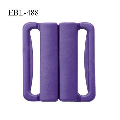 Boucle clip 25 mm attache réglette pvc spécial maillot de bain couleur violet foncé prix à l'unité