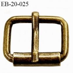 Boucle ceinture 20 mm avec ardillon métal style laiton ancien largeur intérieur 2 cm  hauteur 20 mm extérieur 24 mm
