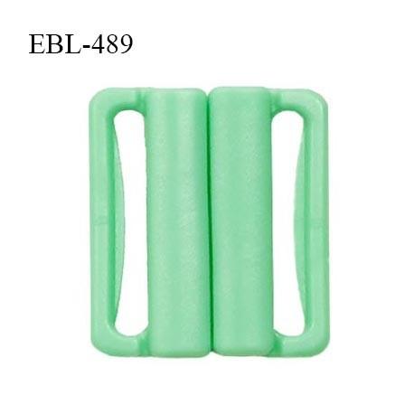 Boucle clip 16 mm attache réglette pvc spécial maillot de bain couleur vert haut de gamme prix à l'unité