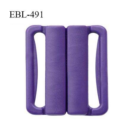 Boucle clip 16 mm attache réglette pvc spécial maillot de bain couleur violet foncé haut de gamme prix à l'unité