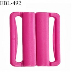 Boucle clip 16 mm attache réglette pvc spécial maillot de bain couleur rose fuschia haut de gamme prix à l'unité