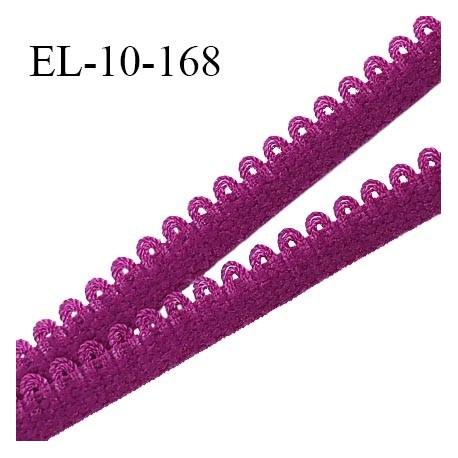 Elastique picot 10 mm lingerie couleur pourpre largeur 10 mm haut de gamme Fabriqué en France prix au mètre