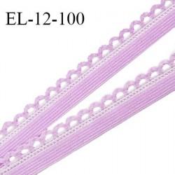 Elastique picot 12 mm lingerie haut de gamme couleur parme (myosotis) fabriqué en France largeur 12 mm prix au mètre