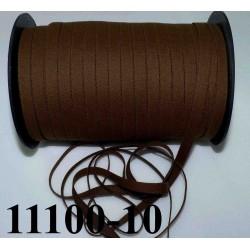 élastique plat largeur 10 mm couleur marron rasta vendu au mètre