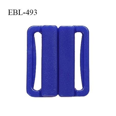 Boucle clip 25 mm attache réglette pvc spécial maillot de bain couleur bleu prix à l'unité