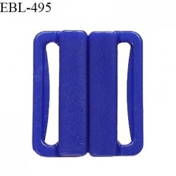 Boucle clip 30 mm attache réglette pvc spécial maillot de bain couleur bleu haut de gamme prix à l'unité