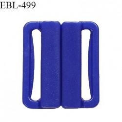 Boucle clip 16 mm attache réglette pvc spécial maillot de bain couleur bleu haut de gamme prix à l'unité