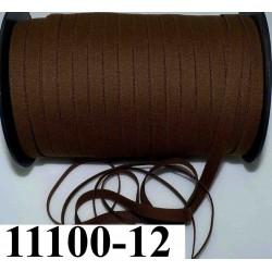élastique plat largeur 12 mm couleur marron rasta vendu au mètre