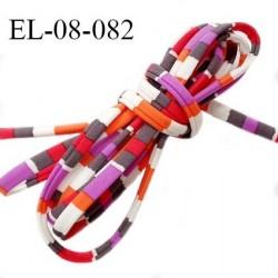 Cordon élastique 8 mm ou cache armature underwire casing galon lingerie et bain multicolore lycra extensible prix au mètre