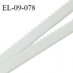 Elastique picot 9 mm lingerie couleur gris pâle (galaxie)  largeur 9 mm haut de gamme Fabriqué en France prix au mètre