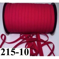 élastique plat largeur 10 mm couleur groseille vendu au mètre