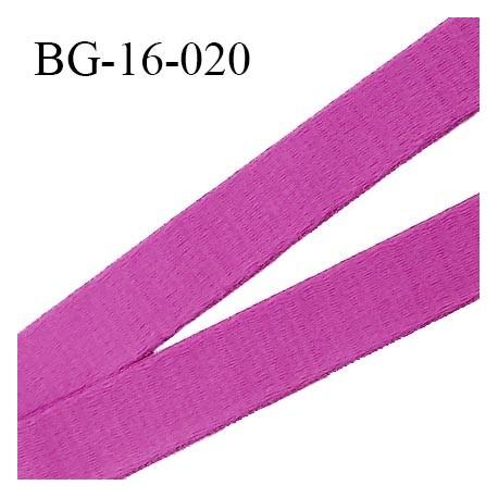 Devant bretelle 16 mm en polyamide attache bretelle rigide pour anneaux couleur fuschia haut de gamme prix au mètre