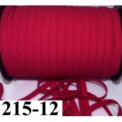 élastique plat largeur 12 mm couleur  rouge groseille vendu au mètre