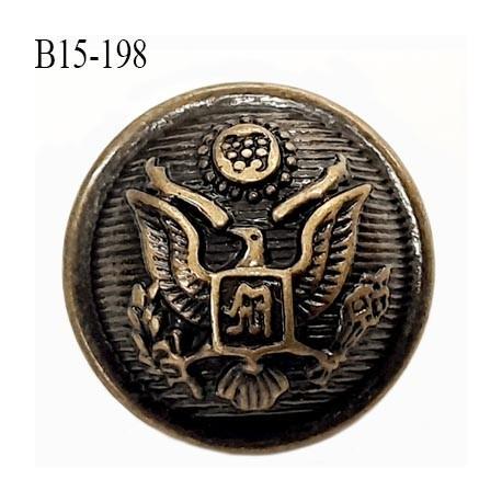 Bouton 15 mm en pvc couleur laiton ancien  accroche avec un anneau diamètre 15 mm épaisseur 5.7 plus anneau mm prix à la pièce