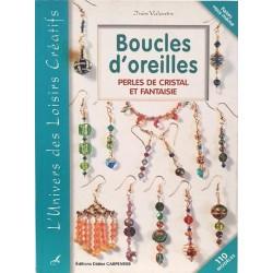 Boucles d'oreilles perles de cristal et fantaisie  livre revue Inès VALENTIN l'univers des loisirs créatifs