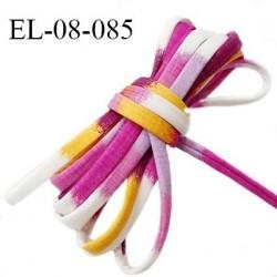 Cordon élastique 8 mm ou cache armature maillot de bain multicolore lycra extensible diamètre 8 mm prix au mètre