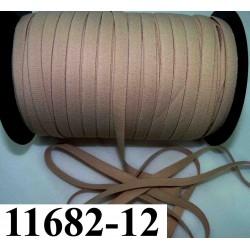 élastique plat largeur 12 mm couleur beige chair so dior vendu au mètre
