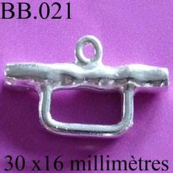accessoire de fermoir colier biche de bère en métal couleur argent