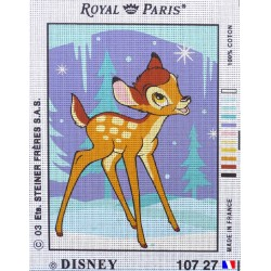 Canevas à broder 22 x 30 cm marque ROYAL PARIS thème DISNEY BAMBI FABRICATION FRANCAISE