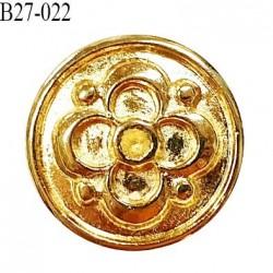 Bouton 27 mm en métal couleur doré accroche avec un anneau diamètre 27 mm épaisseur 3.5 mm prix à l'unité