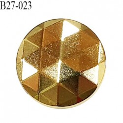 Bouton 27 mm en métal couleur doré accroche avec un anneau diamètre 27 mm épaisseur 2.5 mm prix à l'unité