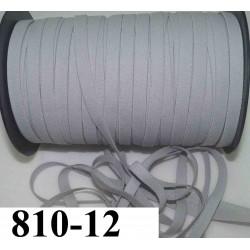 élastique plat largeur 12 mm couleur gris clair  vendu au mètre