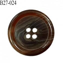 Bouton 27 mm en pvc couleur marron marbré diamètre 27 mm épaisseur 5 mm prix à l'unité