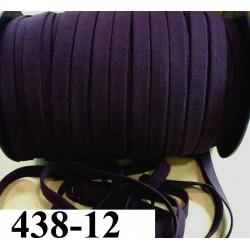 élastique plat largeur 12 mm couleur cassis vendu au mètre