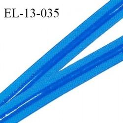 Elastique 13 mm anti-glisse haut de gamme couleur bleu curacao fabriqué en France prix au mètre
