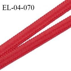 Elastique 4 mm spécial lingerie et couture couleur rouge baiser grande marque fabriqué en France prix au mètre