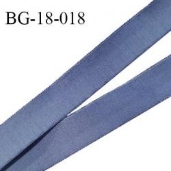 Devant bretelle 18 mm en polyamide attache bretelle rigide pour anneaux couleur encre bleue haut de gamme prix au mètre