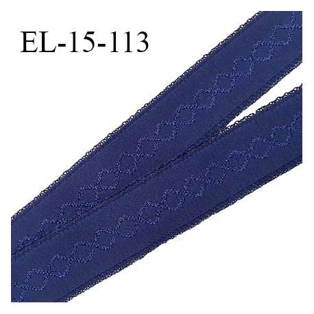 Elastique 15 mm bretelle et lingerie couleur bleu astral haut de gamme largeur 15 mm prix au mètre