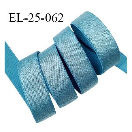Elastique 24 mm bretelle et lingerie couleur bleu polaire brillant très beau fabriqué en France prix au mètre