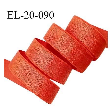 Elastique 19 mm bretelle et lingerie couleur orange tropical brillant très beau fabriqué en France prix au mètre