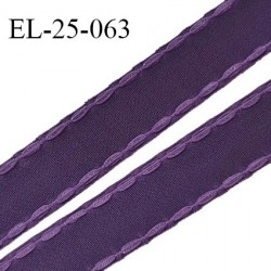 Elastique 24 mm bretelle et lingerie avec surpiqûres couleur chianti ou aubergine fabriqué en France prix au mètre