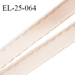 Elastique 24 mm bretelle et lingerie avec surpiqûres couleur rose pâle ou candy ou satin fabriqué en France prix au mètre