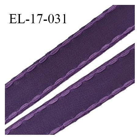 Elastique 16 mm bretelle et lingerie avec surpiqûres couleur chianti ou aubergine fabriqué en France prix au mètre