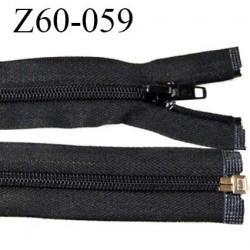 Fermeture zip 60 cm séparable couleur noir zip glissière nylon largeur 7 mm longueur 60 cm largeur 32 mm prix à l'unité