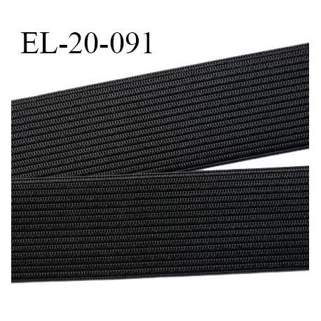 Elastique 20 mm couleur noir souple largeur 20 mm prix au mètre