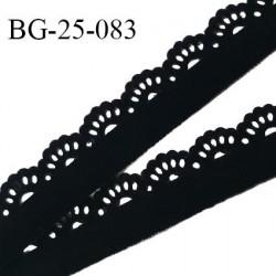 Galon ruban perforé 25 mm effet daim souple et agréable au toucher couleur noir largeur 25 mm prix au mètre