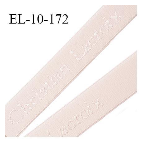 Elastique lingerie 10 mm très haut de gamme élastique souple couleur rose pétale inscription Christian Lacroix prix au mètre