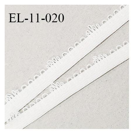 Elastique picot 11 mm couleur naturel largeur 11 mm prix au mètre
