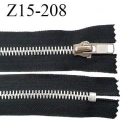 Fermeture 15 cm couleur noir non séparable zip glissière en métal largeur 4 cm largeur du zip 8 mm prix à l'unité
