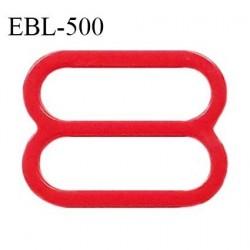 Réglette 19 mm de réglage de bretelle pour soutien gorge et maillot de bain en pvc rouge prix à l'unité